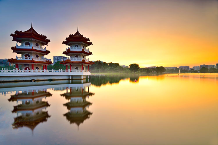 Incroyable Chinise Gardent Temple