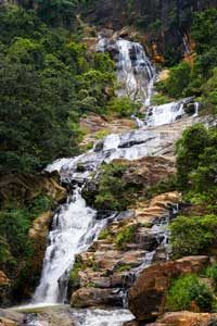 tropical waterfalls in Sri lanka