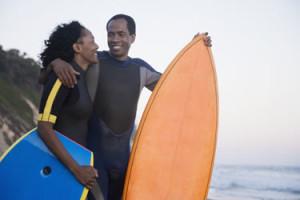 Surfing originated in Hawaii