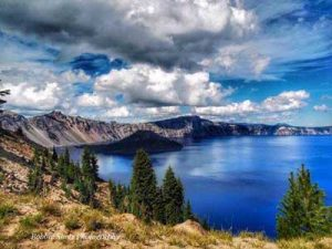 Crater Lake bluest water