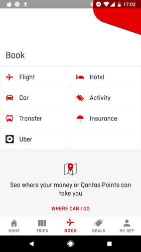 Qantas flyer app