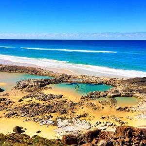 Rock pool Fraser Island