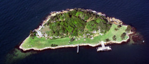 Goat Island is the largest island on Port