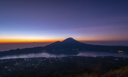 Mount Batur is an active volcano