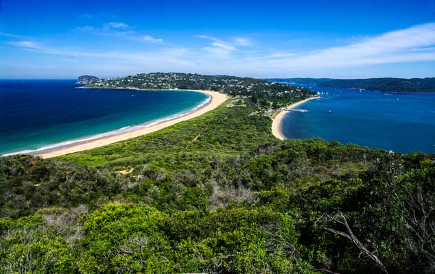 Palm Beach in NSW