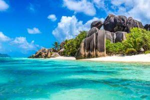 Seychelles Islands bluest water