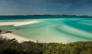 Whitehaven Beach blue water