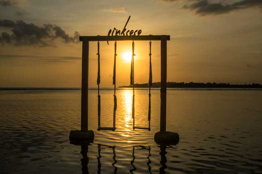 Gili air island sun set